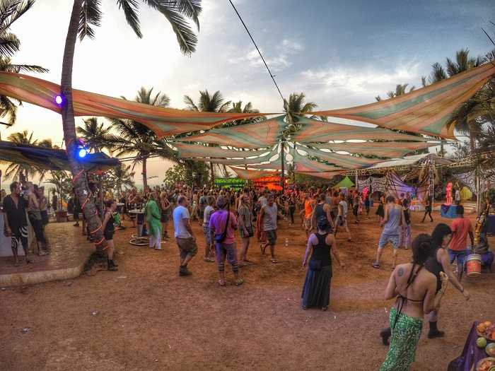 A PsyTrance party in Goa, psychedelic trance Goa