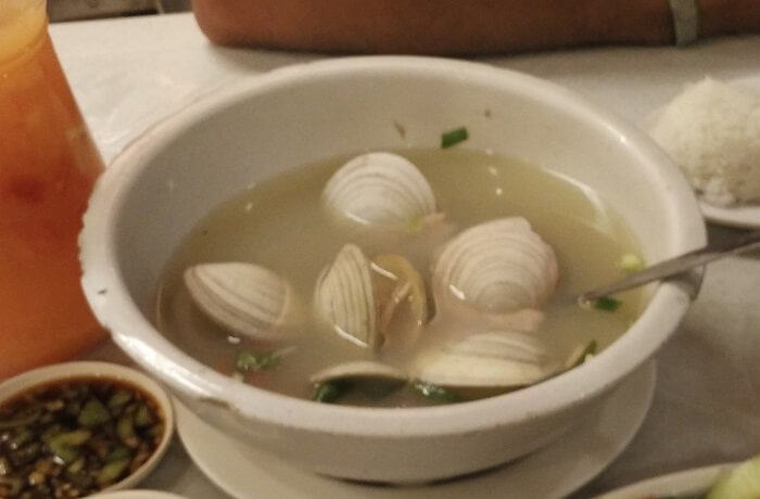 Filipino Food - Clam soup in Cebu city