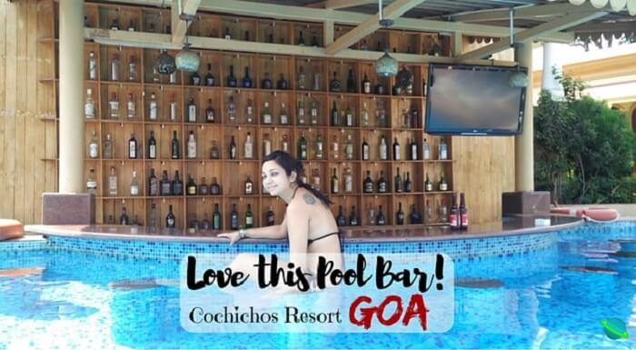 Pool Bar at Cochichos Resort, Vagator, Goa