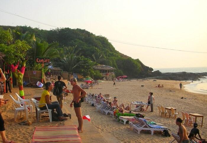 Curlies Shack, Anjuna Beach, North Goa