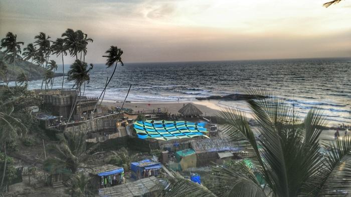 Ozran beach or Small Vagator Beach - North Goa Beaches