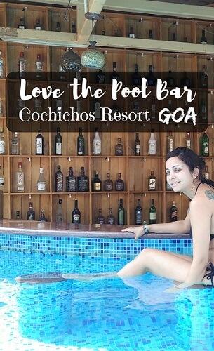 Pool Bar at Cochichos Resort, Vagator, Goa (India)