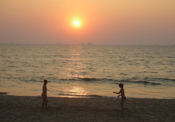 Sunset at Candolim Beach, North Goa