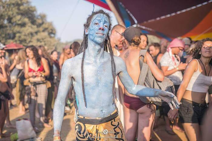 Avatar Costume At Boom Festival 2016 - Photo by Amir Weiss of Transformation Festivals Eye