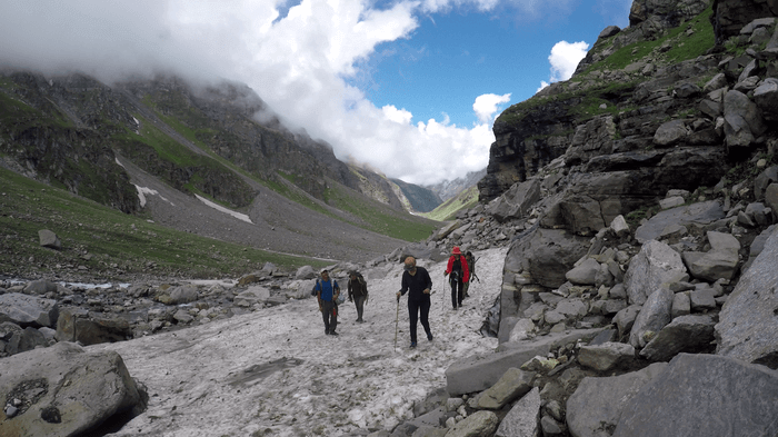 Hampta Pass Day 3 - Crossing Glaciers