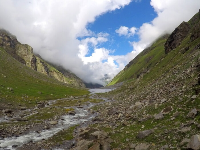 Hampta Pass Day 3 - Crossing balu Ka Ghera Lake