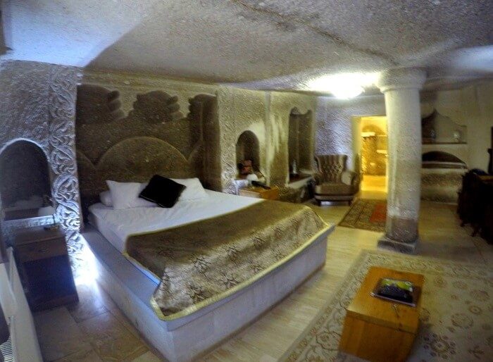 My cave room at Ottoman Cave Suites, Goreme, Cappadocia, Turkey