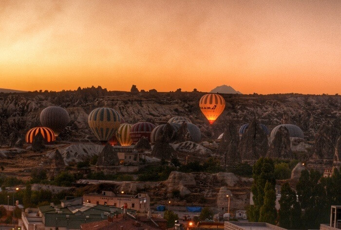 Sunrise View from Ottoman Cave Suites, Goreme