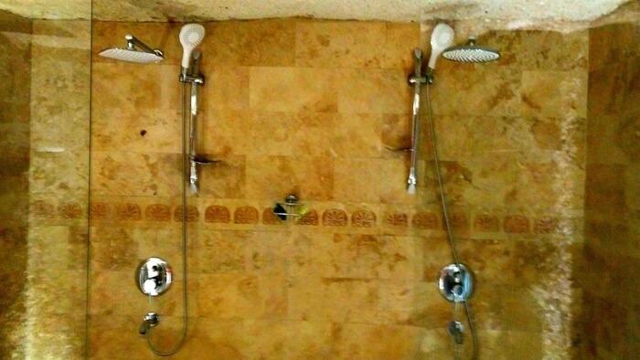 Twin Showers at Ottoman Cave Suites, Göreme