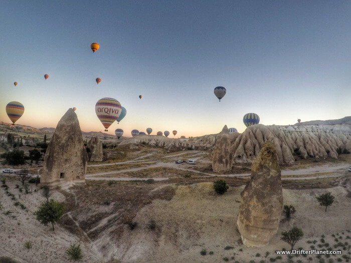 Flying around in Goreme - Hot Air Balloon Ride in Cappadocia, Turke