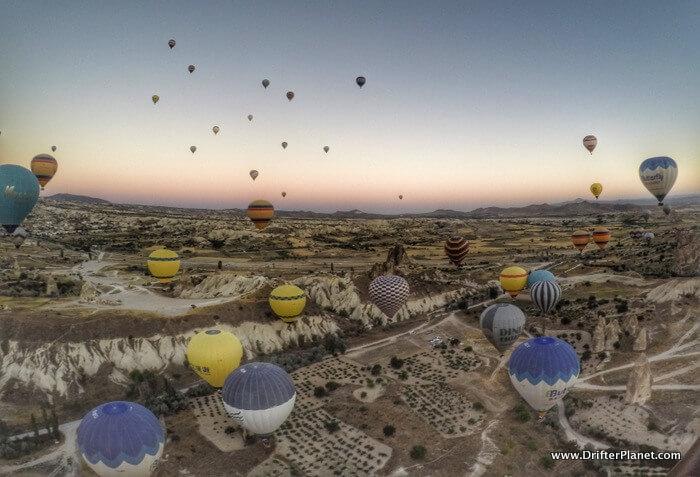 So many balloons - Hot Air Balloon Ride in Cappadocia, Turkey