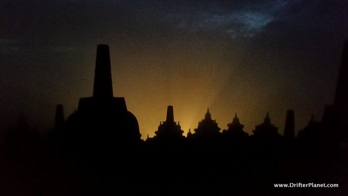 Borobudur Temple Before the sunrise