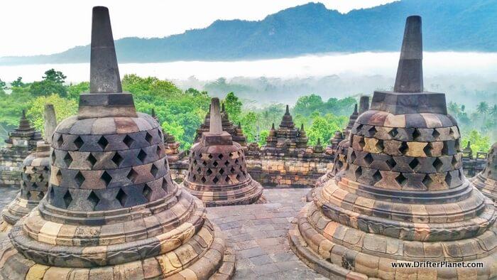 Sunrise at Borobudur Temple, Yogyakarta