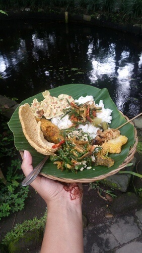 Local Javanese Food at Desa Pentingsari, Yogyakarta, Indonesia