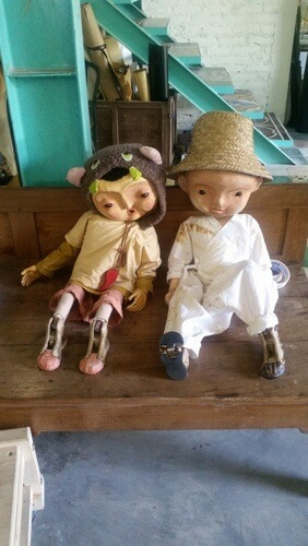 Puppets at Papermoon Puppet Theatre at Yogyakarta, Indonesia