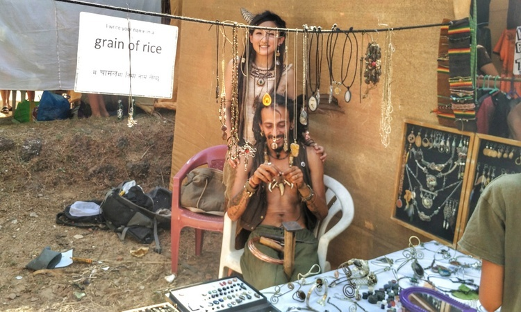Goa Flea Markets - International artisans at Anjuna Flea Market