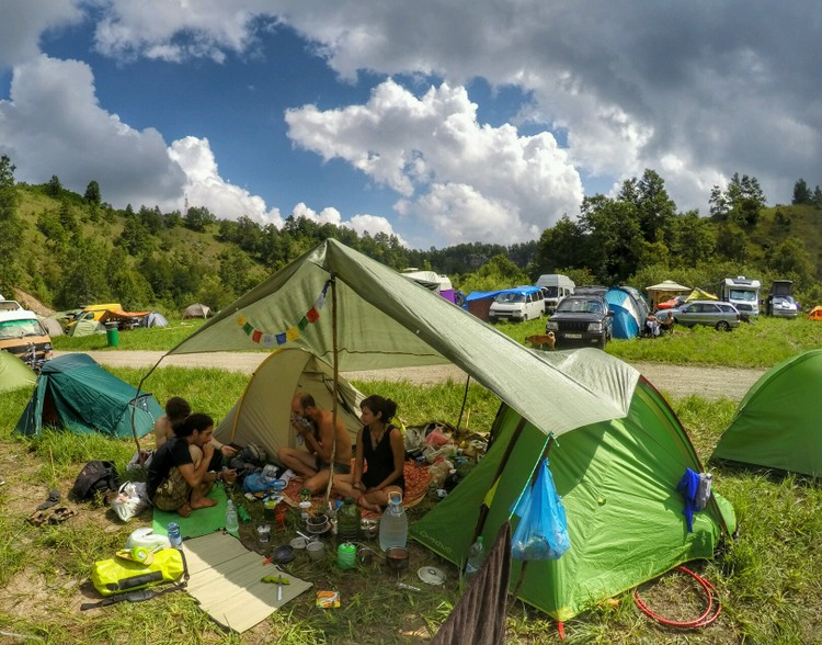 Our camp at Modem festival 2016, Croatia