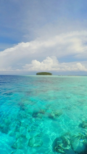 First view of Pasir Timbal, Raja Ampat