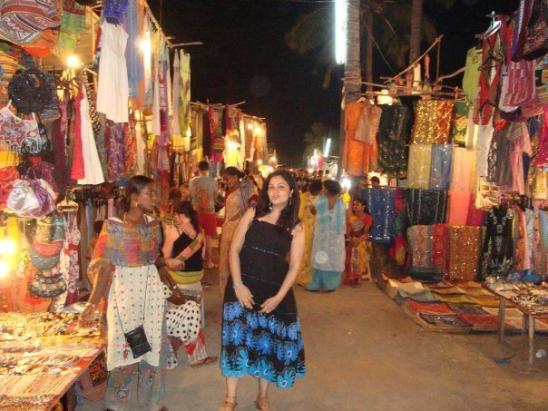 Goa Flea Markets - My sister Priyanka Bajad at Mackies Saturday Night Market