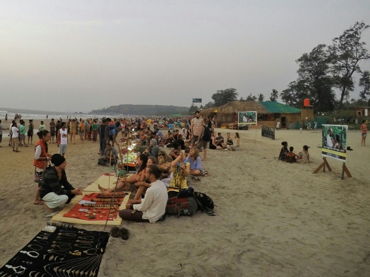 Arambol Drum Circle Beach Market