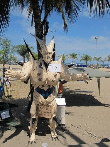 Burn Papier Mâché Characters at Salinas, Ecuador