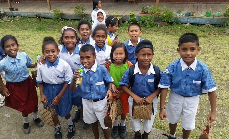 Adorable school kids at School Kids at Taman Bacaan Pelangi