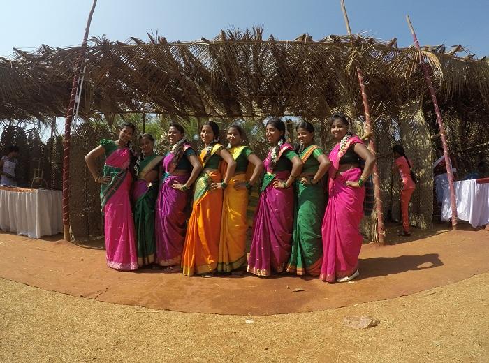 Beautiful Young Women at Goa Tribal Festiva